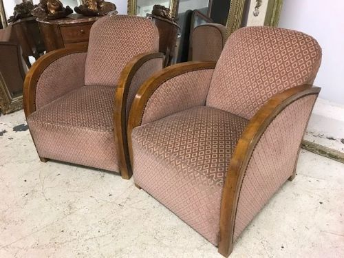 French Deco Armchairs - b13